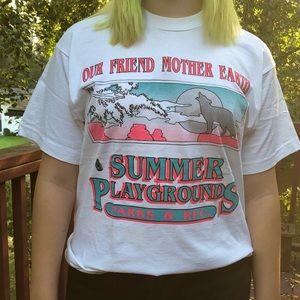 Other - Vintage shadow lettered parks & rec shirt